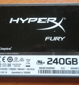 ДИСК SSD Kingston HyperX FURY 240Gb