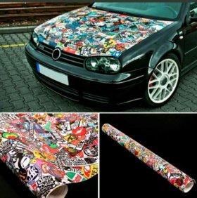 Jdm наклейка для автомобиля декора рулон стикер