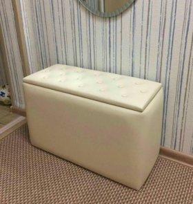 Новая Банкетка с ящиком пуф в прихожую или спальню