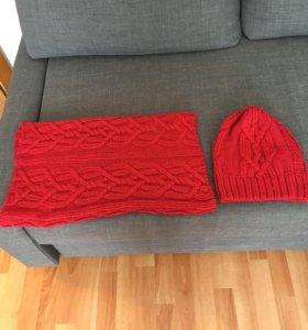 Шапка с шарфом от Kira Plastinina
