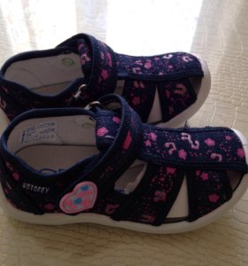 Туфли открытые для девочки котофей