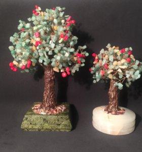Дерево счастья из натуральных камней