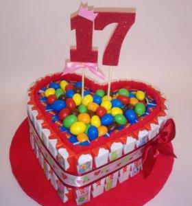 Торт из киндеров/ подарок