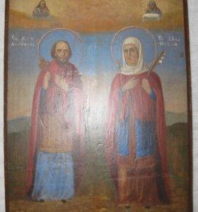 Икона Святой мученник Апполон и мученица Павла