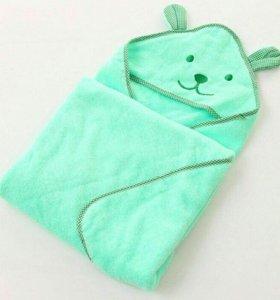 Полотенце-уголок зеленое