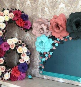 Цифра 6 цветы розы аренда/продажа