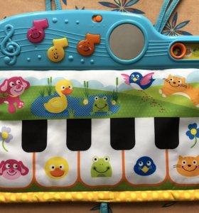 Музыкальное мягкое пианино на кроватку winfun