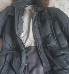 Пуховик куртка мужская б/у, 50 размер