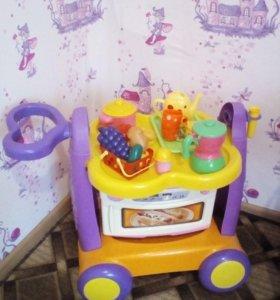 Тележка детская для посуды и микроволновка