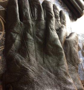 Перчатки мужские кожа натур.