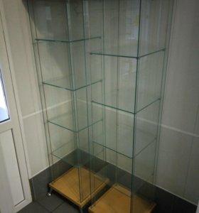 Витринный шкаф стеклянный 2 шт .Витрина торговая .