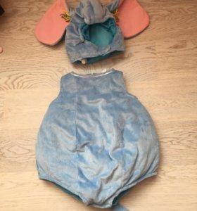 костюм мышки или слона подойдет 1-2 года