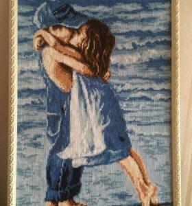 Вышивка. Картина. Морской поцелуй