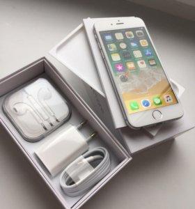 iPhone 6 16 silver, original, отличный
