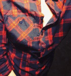Рубашка в клетку,размер хs