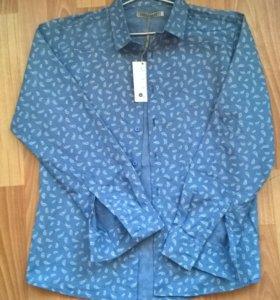 Рубашка джинсовая новая
