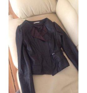Куртка кожа натуральная Stefanel оригинал Италия