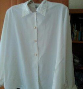 блузка белая размер 54-56