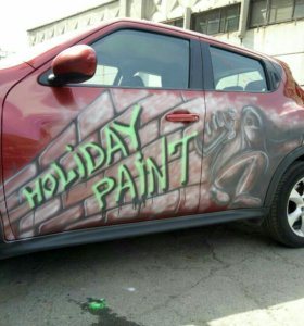 Временная краска для авто