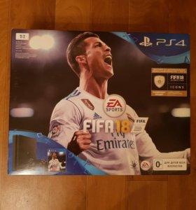 Игровая консоль PlayStation 4 1Tb FIFA 18 + PS Plu