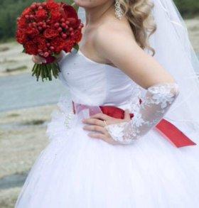 Свадебное платье и украшение АВТО