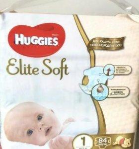 Подгузники Хаггис Huggies elite soft 1