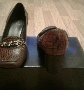 Кожаные туфли 39 раз