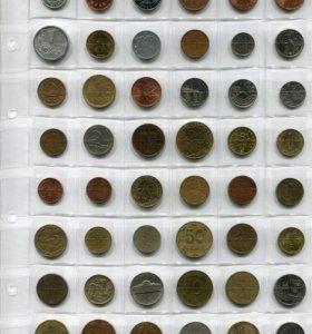 Монеты мира 48 штук без повторов