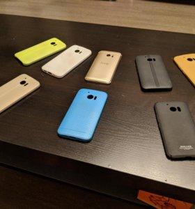 HTC 10 32Gb золотой + гора цветных чехлов