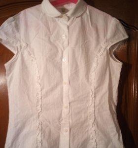 Блуза с рюшами (короткий рукав)