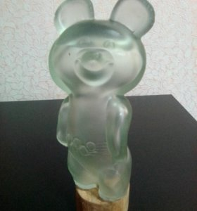 Бутылочка в виде олимпийского мишки.