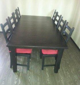 Стол и 8 стульев