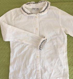 Блуза школьная , 6-7 лет, хлопок