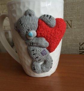 Сувенирная кружка с мишкой Тедди
