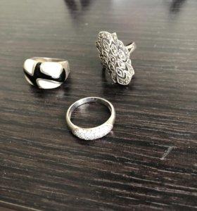Кольца серебро,эмаль
