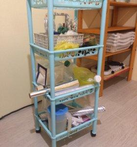 Пластмассовая этажерка (полки)