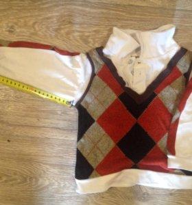 Рубашка-жилет 2-3г