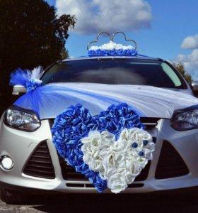Свадебное украшение на авто ном.6