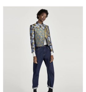 Куртка в стиле пэчворк ZARA