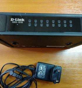 Коммутатор (switch) на 16 портов
