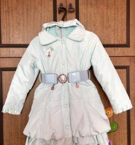 Итальянское демисезонное пальто для девочки Noble