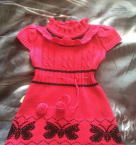 Платье на девочку с 8 месяцев до 2 лет