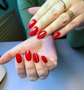 Наращивание ногтей, покрытие , маникюр