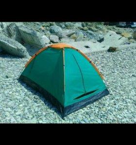 Палатка новая зеленая двухместная