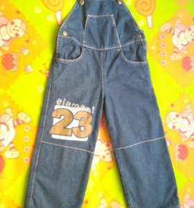 Комбинезон на флисе джинсовый.