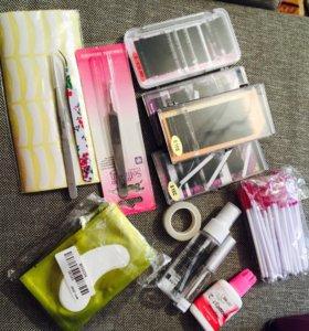 Материалы для наращивания и завивки ресниц
