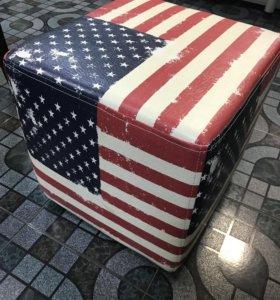"""Пуфик Флаг """"Америка """""""