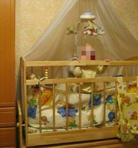 Кроватка детская,два в одном.