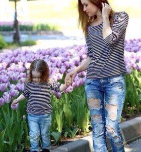 Тельняшка женская и детская