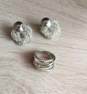 ❗️Новый❗️набор «Серьги и кольцо»